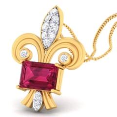 18K Gold Pendant and 0.18 carat Diamonds