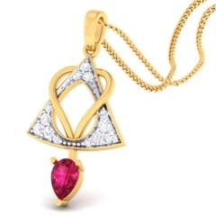 18K Gold Pendant and 0.20 carat Diamonds