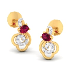 18K Gold Earring and 0.22 carat Diamonds