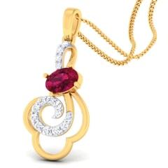 18K Gold Pendant and 0.19carat Diamonds