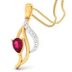 18K Gold Pendant and 0.12 carat Diamonds