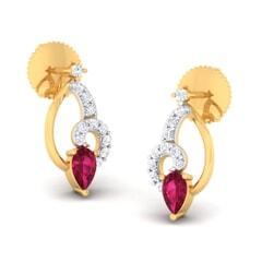 18K Gold Earring and 0.23 carat Diamonds