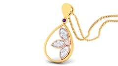 18K Gold Pendant and 0.13 carat Diamonds