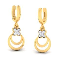 18K Gold Earring and 0.08 carat Diamonds