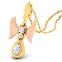 18K Gold Pendant and 0.10 carat Diamonds