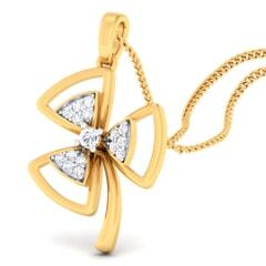 18K Gold Pendant and 0.16 carat Diamonds