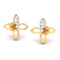 18K Gold Earring and 0.32 carat Diamonds
