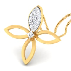 18K Gold Pendant and 0.15 carat Diamonds
