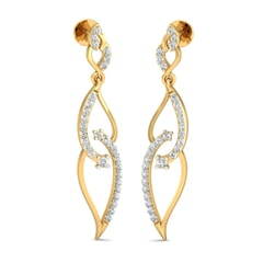 18KT Gold and 0.56 Carat Diamond Earrings