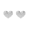 14K Gold and 0.30 carat Round Diamond Heart Earrings