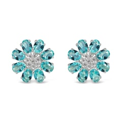Zircon Sterling Silver Earrings