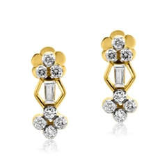 Stud Earrings in 14K Gold and 0.56 carat Diamonds