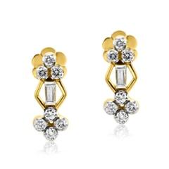 Stud Earrings in 14K Gold and 0.56 carat Diamonds