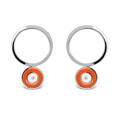 Circle Sterling Silver Earrings