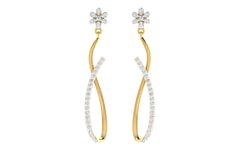 18KT Gold and 0.63 Carat Diamond Earrings