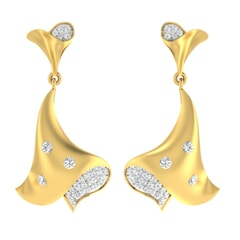 18KT Gold and 0.48 Carat Diamond Earrings