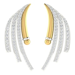 18KT Gold and 0.89 Carat Diamond Earrings