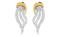 18KT Gold and 0.47 Carat Diamond Earrings