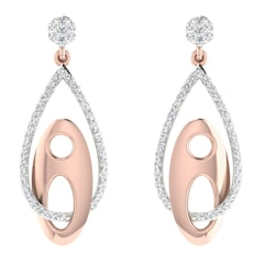 18KT Gold and 0.76 Carat Diamond Earrings