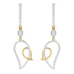 18KT Gold and 0.85 Carat Diamond Earrings
