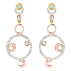 18KT Gold and 0.75 Carat Diamond Earrings