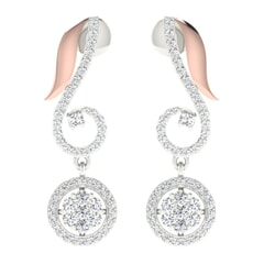 18KT Gold and 0.87 Carat Diamond Earrings