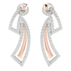 18KT Gold and 0.66 Carat Diamond Earrings