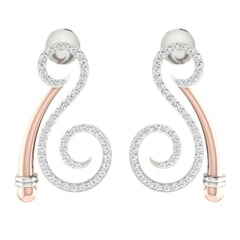 18KT Gold and 0.57 Carat Diamond Earrings