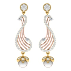 18KT Gold and 0.55 Carat Diamond Earrings