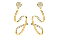 18KT Gold and 0.38 Carat Diamond Earrings