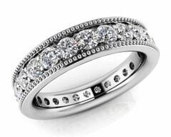 18KT Gold Thirty Nine Stone Diamond Eternity Ring