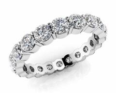 18KT Gold Forty Stone Diamond Eternity Ring
