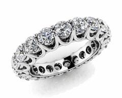 18KT Gold Twenty Seven Stone Diamond Eternity Ring