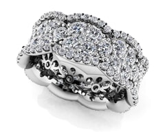 18K Gold and 2.99 Carat F Color and VS Clarity Diamond Fashion Ring