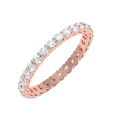 18KT Gold and 1.12 Carat F Color VS Clarity Round Diamond Eternity Ring
