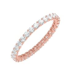 18KT Gold and 1.04 Carat F Color VS Clarity Round Diamond Eternity Ring