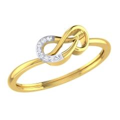 14KT Gold and 0.03 Carat F Color VS Clarity Diamond Ring