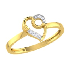 14KT Gold and 0.02 Carat F Color VS Clarity Diamond Ring