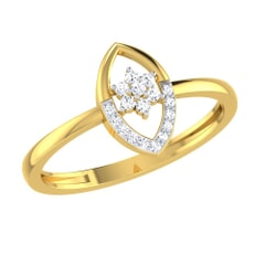 14KT Gold and 0.07 Carat F Color VS Clarity Diamond Ring