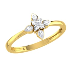 14KT Gold and 0.10 Carat F Color VS Clarity Diamond Ring