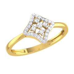 14KT Gold and 0.12 Carat F Color VS Clarity Diamond Ring