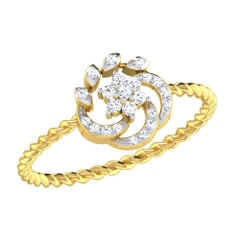 14KT Gold and 0.11 Carat F Color VS Clarity Diamond Ring