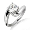Malee - 18k Gold and 0.50 carat Solitaire Engagement Diamond Ring with Certificate