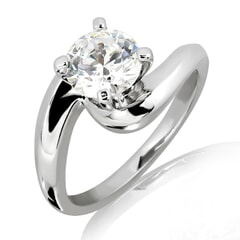 Malee - 18k Gold and 1.00 carat Solitaire Engagement Diamond Ring with Certificate