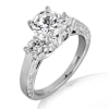 18KT Gold and 0.50 carat Three Stone Engagement Ring with Certificate