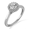 18KT Gold and 0.50 carat Halo Engagement Diamond Ring with Certificate