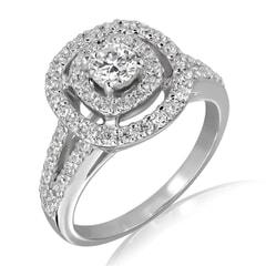18K Gold and 0.85 Carat E Color VS1 Clarity Diamond Ring