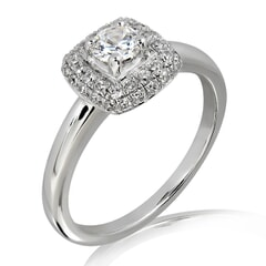 18KT Gold and 0.30 Carat E Color VS Clarity Diamond Ring