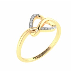 Be Mine - 18k Gold and Diamond Heart Ring