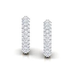 Round Diamond Hoop Earrings